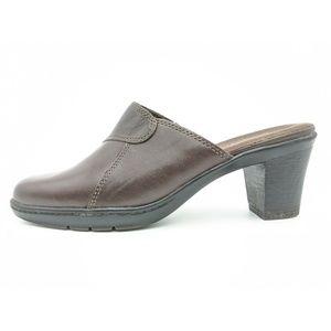 Clarks Block Heel Slide Mule Clogs